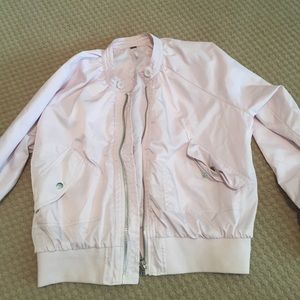 Free People Jackets & Coats - Free People Light Pink Bomber Jacket